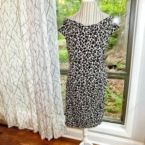 Ann Taylor cheetah animal print dress xxl